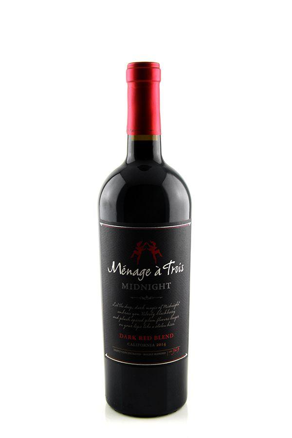 Vinho Tinto  Ménage a Trois Midnight Dark Red Blend Califórnia 2014