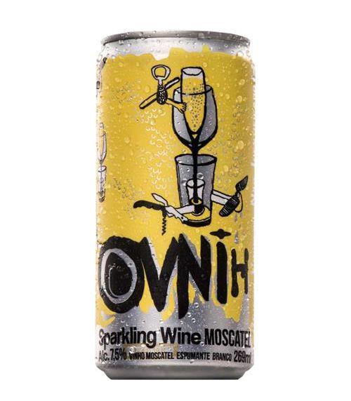 Espumante em Lata Ovnih Wine Moscatel