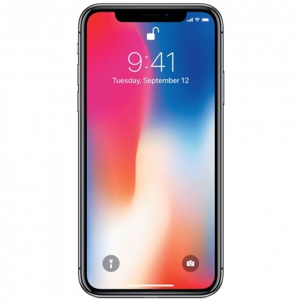 CELULAR APPLE IPHONE X  64GB A1901 CINZA ESPACIAL ( PRETO )