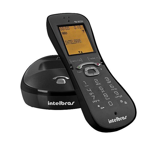 Telefone Sem Fio Digital Intelbras ts-8220 preto