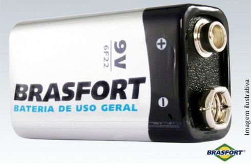 BATERIA COMUM 9V Brasfort C/1 - 6312 -
