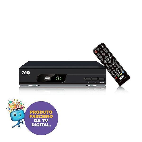 Conversor Digital  FULL HD – PRODT-1200 com saída de RF / RCA e HDMI