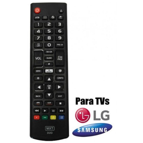 Controle Remoto Universal MXT 01318 TV Smart Mix LG Samsung Futebol