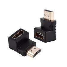 ADAPTADOR HDMI MACHO X HDMI FEMEA GOLD ARTICULADO 90°