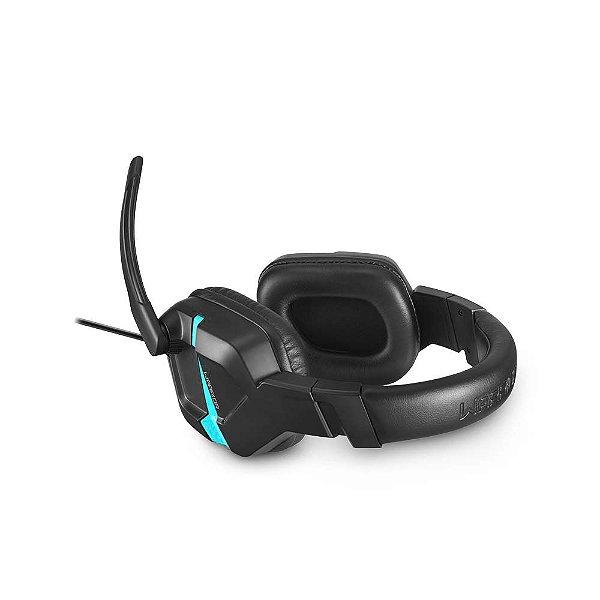 Fone Headset Gamer Warrior Askari p3 Stereo ps4 azul - ph292