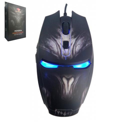 Mouse G-Fire Mog014lglb Gaming 2800dpi 6b Led Azul Usb Preto