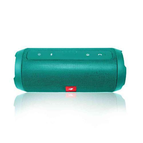 Caixa de Som C3Tech Speaker Bluetooth+EDR Função Power Bank, Handsfree, USB, FM, TF Card Verde - SP-B150GR