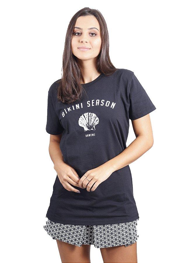 Camiseta Hawewe Bikini Season Preta