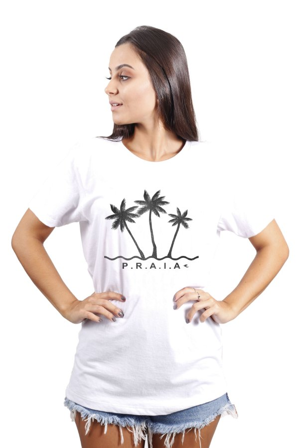 Camiseta Hawewe Praia Branca