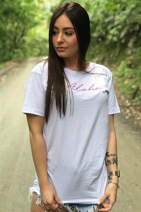 Camiseta Hawewe Aloha Branca