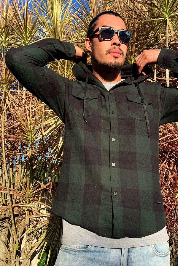 Camisa Hawewe Flanela Xadrez Verde