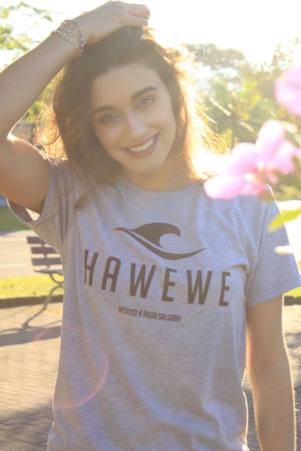Camiseta Hawewe Movido a Água Salgada Mescla