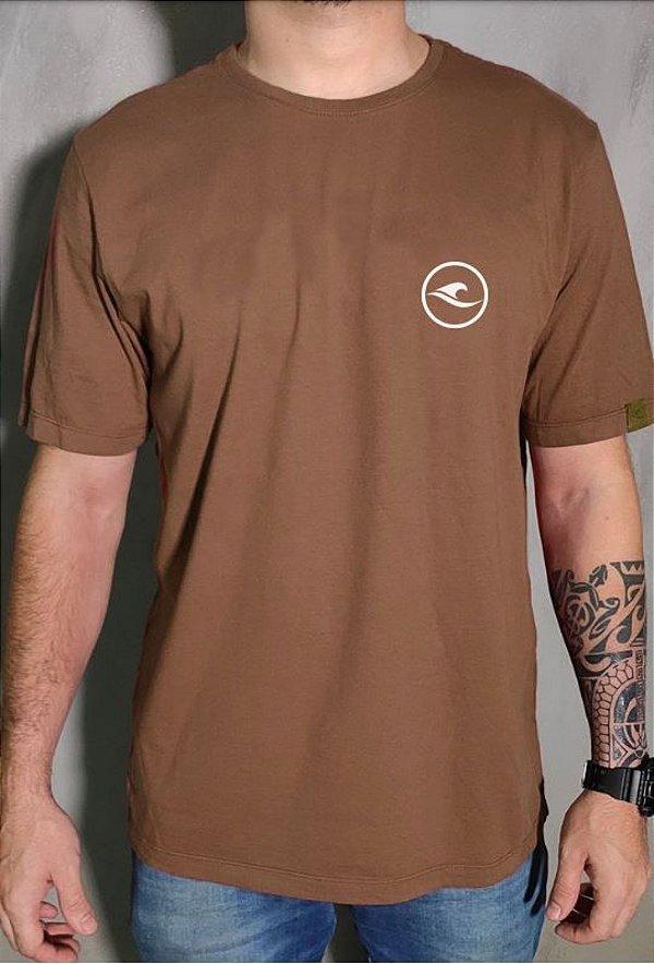 Camiseta Hawewe Logo Marrom