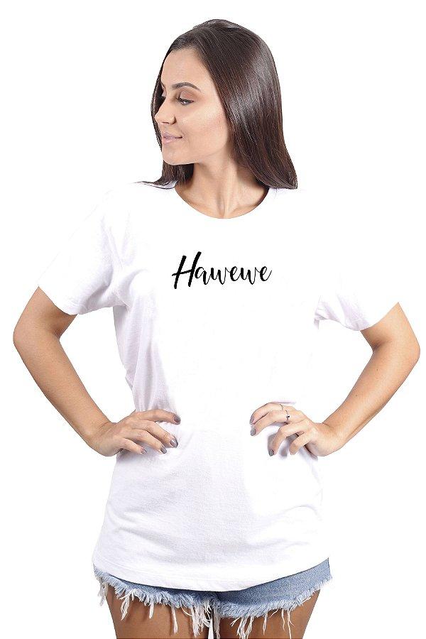 Camiseta Hawewe Cursive Branca