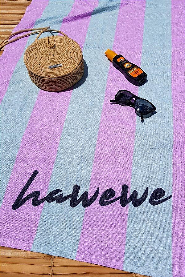 Toalha De Praia Hawewe Listras Candy