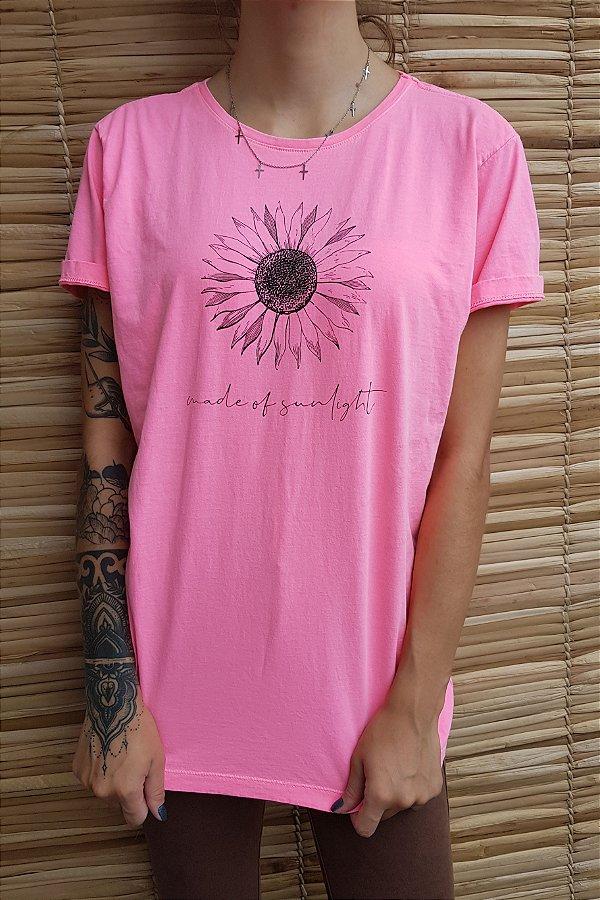 Camiseta Hawewe Made of Sunlight Estonada Rosa