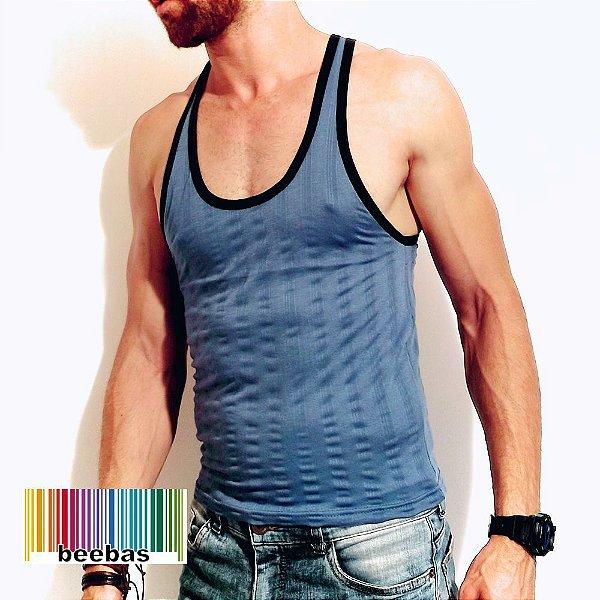 c0c4c38dd6f48 Camiseta regata masculina canelada cavada fitness