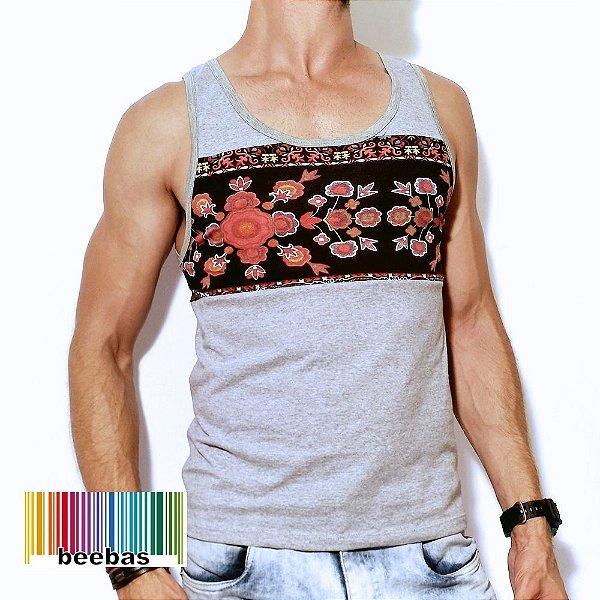 Camiseta regata com corte básico e modelagem slim mid - Beebas ... a0461018367