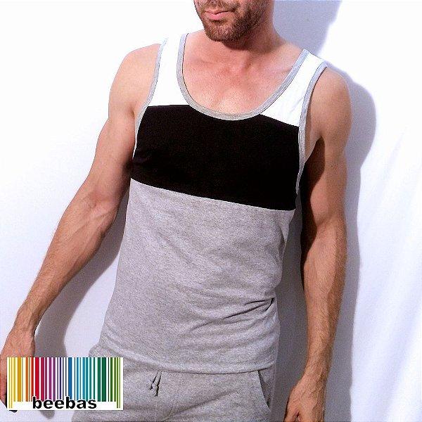 Regata masculina basica com recortes - Beebas - Moda LGBT ef687db7be9