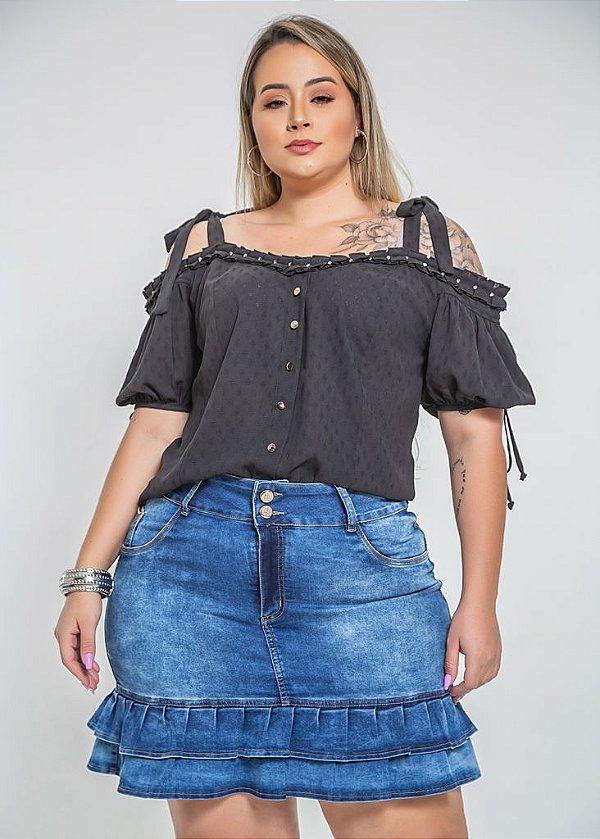 Blusa estilo ciganinha plus