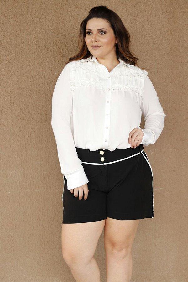 0ff733ba36 Blusa em crepe manga longa - Camilly Plus Size