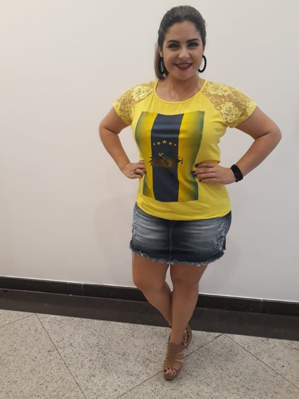 Blusa do Brasil plus size em malha