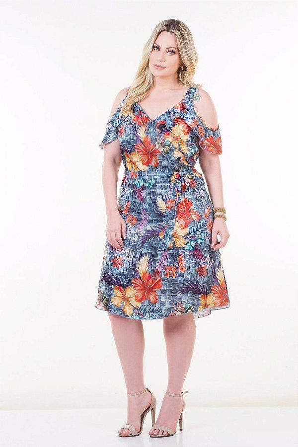 Vestido floral ciganinha