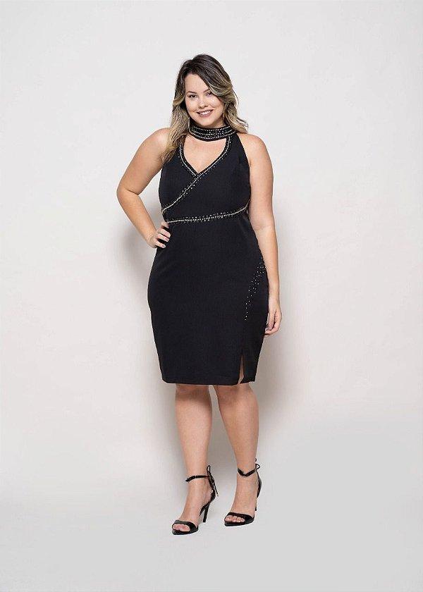 Vestido vestido bordado plus size