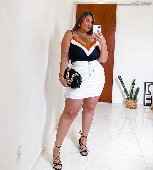 Blusa black collor plus size