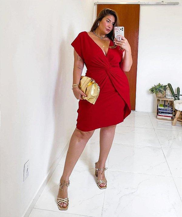 Vestido malha canelada plus size