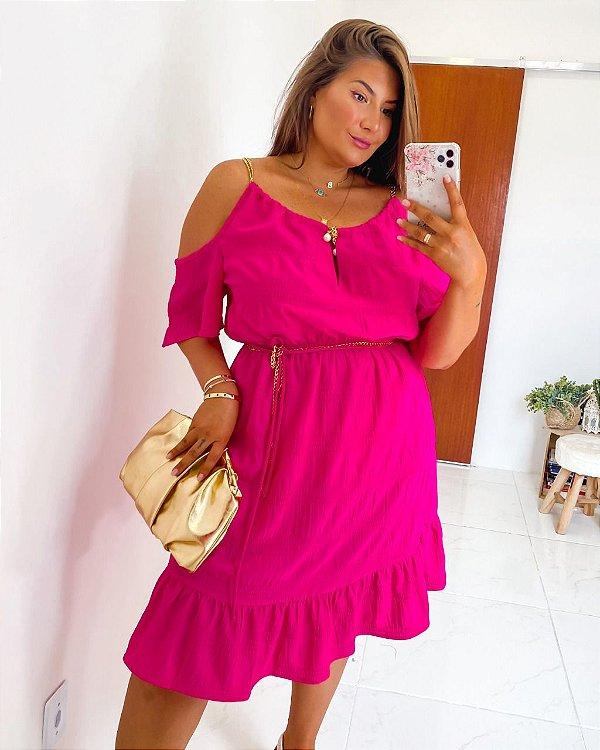 Vestido pink plus size