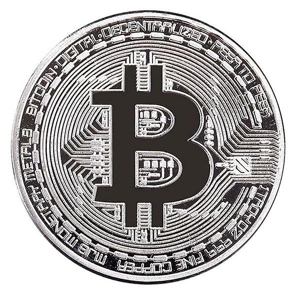 Moeda decorativa Bitcoin - Prata