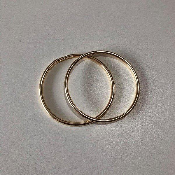 Argola Dourada Cataforética 7cm (pct 2)