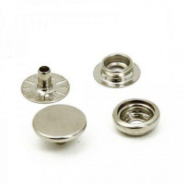 Botão de Pressão N° 100 Prata (10 unid)