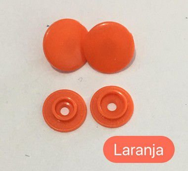 Botão de Pressão n° 12 Laranja (pct 10)