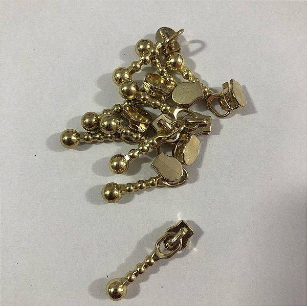 Cursor 3mm Bolinha Dourada (5 unid)