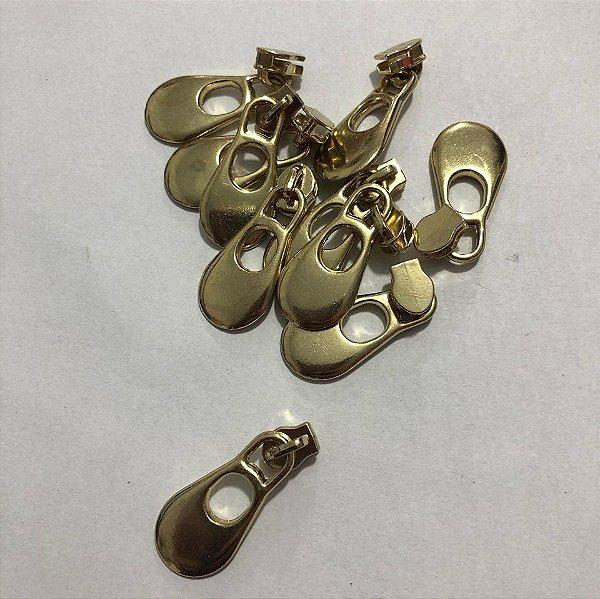 Cursor 3mm Gota Grande Dourada (5 unid)