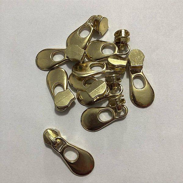 Cursor 5mm Gota Grande Dourada (5 unid)
