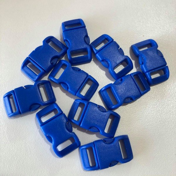 Fecho PVC 10mm (10 unidades) Azul