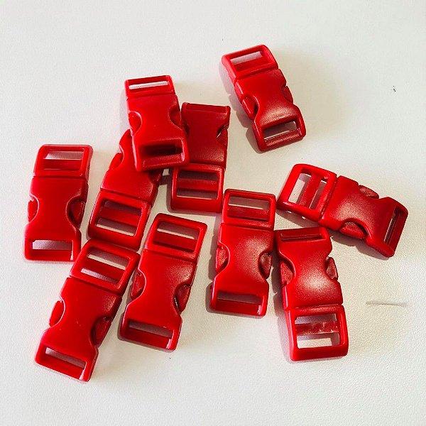 Fecho PVC 15mm (10 unidades) Vermelho