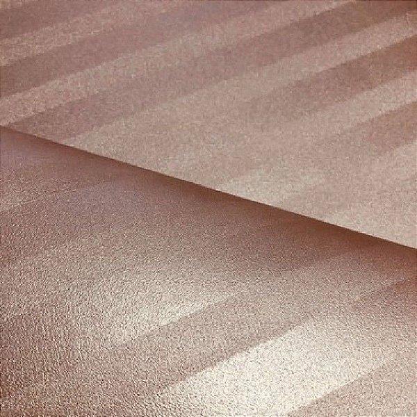 Listrado Metalizado Ouro Rosa