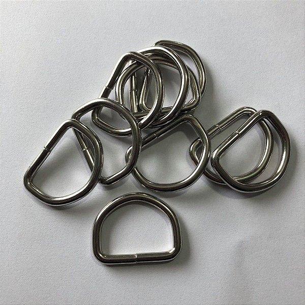 Meia Argola Prata 3cm  (pct 10)