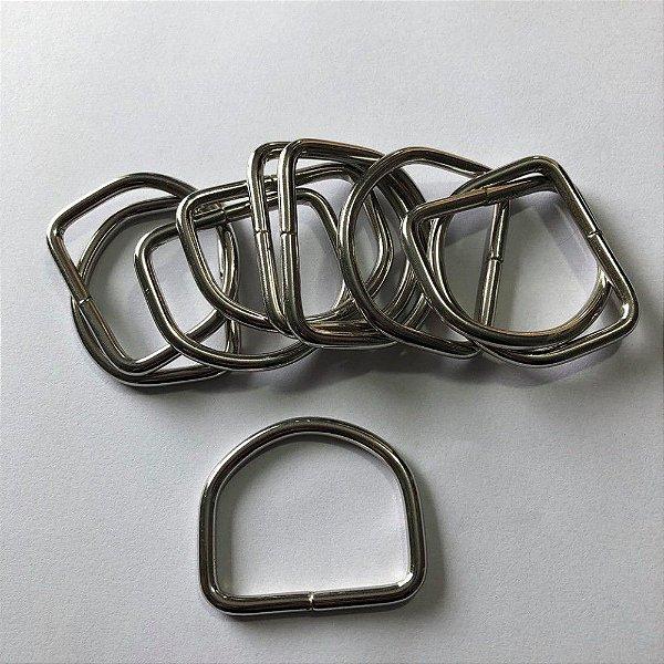 Meia Argola Prata 4cm  (pct 10)
