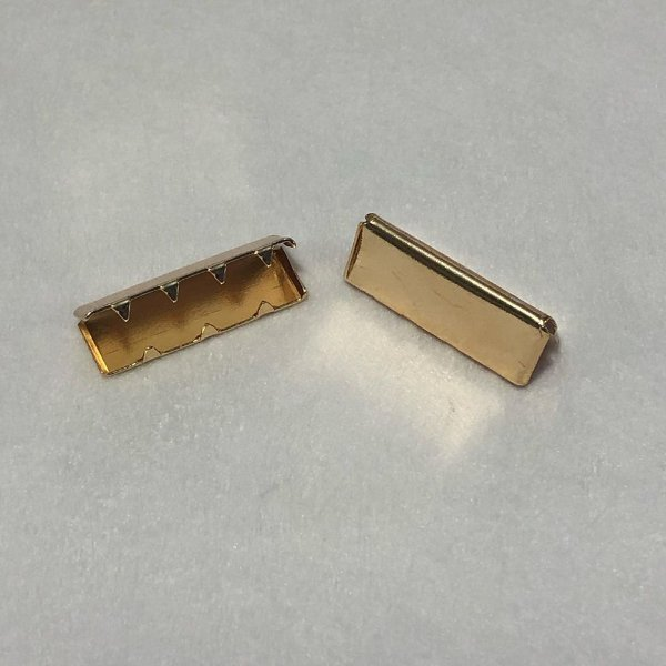 Ponteira de Alça Dourado 3cm (2 unidades)