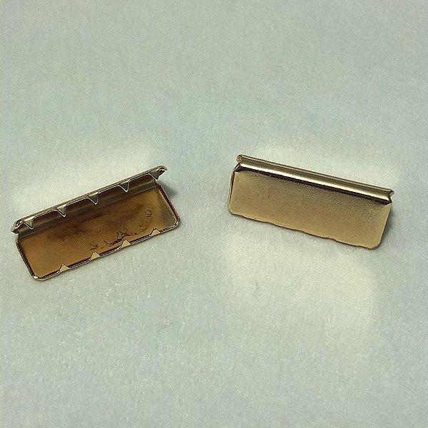Ponteira de Alça Dourado 4cm (2 unidades)