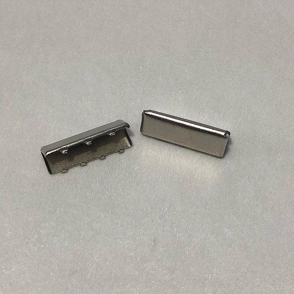 Ponteira de Alça Prata 3cm (2 unidades)