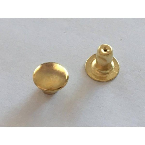 Rebite n°3 Dourado (10 unidades)