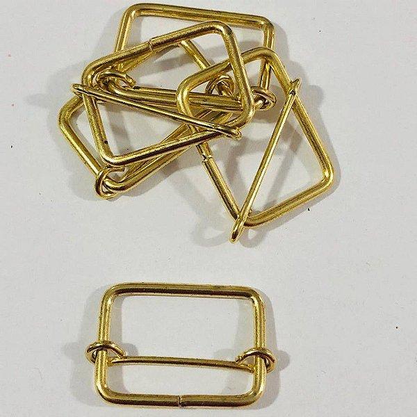 Regulador de Alça  3cm Dourado (pct 5)