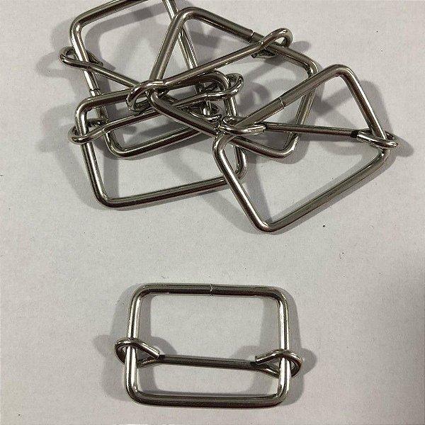 Regulador de Alça  3cm Prata (pct 5)