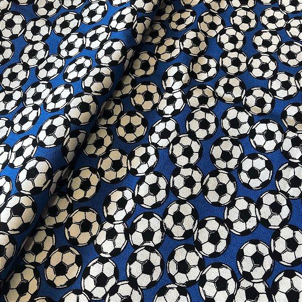 Tecido Bola de Futebol Azul